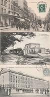 5 CPA:CHERBOURG (50) MILITAIRE CASERNE BRIÈRE,TRAIN GARE,BÂTEAUX GARE MARITIME,NAVIRES ESCADRE DU NORD CALES...... - Cherbourg