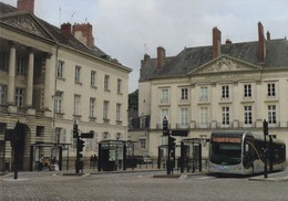 44. NANTES. .2 CARTES. LANCEMENT DU BUSWAY. LIGNE N° 4. TERMINUS. PLACE DU MARÉCHAL FOCH. NOVEMBRE 2006 - Nantes