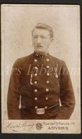 Photo-carte De Visite / CDV / Soldat / Soldier / Photo / Militaire / Photographer / Henri Beng / Antwerpen / 2 Scans - Krieg, Militär