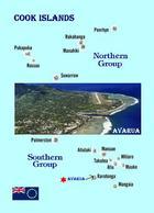 Cook Islands Country Map New Postcard Cookinseln Landkarte AK - Cook