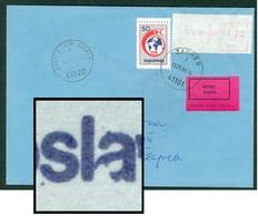 Yugoslavia 1988 Red Cross ERROR Open 'a' In JugoslAvija Meter Stamp Letter Cover - 1945-1992 Repubblica Socialista Federale Di Jugoslavia