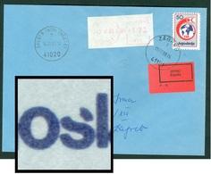 Yugoslavia 1988 Red Cross ERROR Open 's' In JugoSlavija Meter Stamp Letter Cover - 1945-1992 Repubblica Socialista Federale Di Jugoslavia