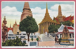Thailand General View Wat Prakeo Compound_1960's Bangkok_(TB)_Y EBATA & Co (Prom Photo Studio ) Bangkok_cpc_Collection - Thailand