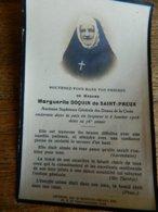 RELIGIEUSE:SOUVENIR DE DECE DE MADAME MARGUERITE DOQUIN DE SAINT PREUX -DAMES DE LA CROIX 1852-1928 - Imágenes Religiosas