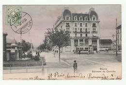 Bienne - CPA Colrisée 1905 - Bâtiment Du Contrôle - Animation, Tram, Tramway- Edition Burgy No 4275 - Suiza