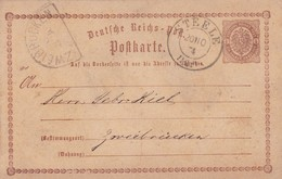 GERMANY ENTIRE CARD CIRCULATED 1904 STEELE TO ZWEIBRUCKEN. -LILHU - Germany