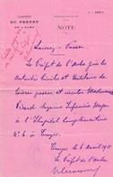 Document Militaire 2 Laissez Passer 1915 Cabinet Du Préfet De L'AUBE D'une Infirmière à TROYES Hôpital N°6 - 1914-18
