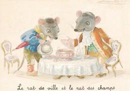 Centenaire De La Naissance De Mauzan, 1978, 'Le Rat De Ville Et Le Rat Des Champs', Edit Spéciale De La Croix Rouge Fran - Mauzan, L.A.