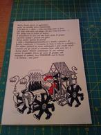 150452 STRANA CARTOLINA BABBO NATALE BUSTO ARSIZIO VARESE PUBBLICITA' VOLKSWAGEN 1966 - Santa Claus