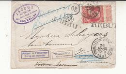 Enveloppe 1907 Timbre  74     2 Scan - 1905 Barba Grossa
