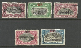 BELGISCH KONGO Congo Belge 1922 Michel 58 - 62 * - Congo Belge