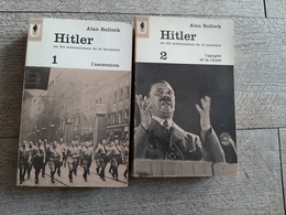 Hitler De Alan Bullock Complet 2 Tomes Histoire 3e Reich - Histoire