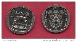 SOUTH AFRICA,  2013, Nicely Used Coin 1 Rand Springbok  C1337 - Sud Africa