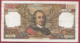 """100 Francs """"Corneille"""" Du 03/09/1964.J---F/TTB+---ALPH.C.33 - 1962-1997 ''Francs''"""