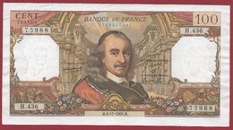 """100 Francs """"Corneille"""" Du 06/11/1969.M---F/TTB+---ALPH.H.436 - 1962-1997 ''Francs''"""