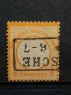 Deutsche Reich Brustschild Mi-Nr. 14  Gestempelt Geprüft - Germania