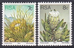 Südafrika South Africa RSA 1977 Pflanzen Plants Blumen Flora Flowers Blüten Proteusgewächse Protea, Mi. 518-9 ** - Afrique Du Sud (1961-...)