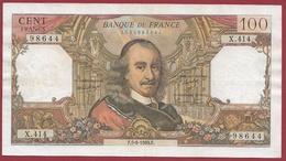 """100 Francs """"Corneille"""" Du 05/06/1969.F---F/TTB+---ALPH.X.414 - 1962-1997 ''Francs''"""