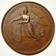 MEDAILLE EXPOSITION UNIV. 1867 PARIS NAPOLEON III Par PONSCARME. 59,20 Gr. TRES BEL ETAT. - Professionali / Di Società