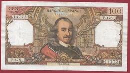"100 Francs ""Corneille"" Du 02/04/1970.F---F/TTB+---ALPH.F.478 - 1962-1997 ''Francs''"