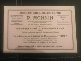 A BUVARD Ancien HORLOGERIE BIJOUTERIE P.MONNIN ARRAS PAS DE CALAIS - Alimentare