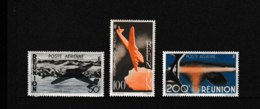 PA  42 43 44  **  Y & T  Ile Et Avions  « Poste Aérienne »  *REUNION*  58/53 - Réunion (1852-1975)