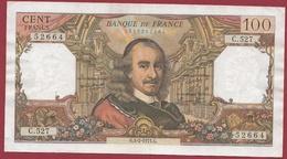 """100 Francs """"Corneille"""" Du 04/02/1971.G---F/TTB+---ALPH.C.527 - 1962-1997 ''Francs''"""