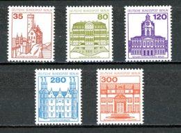 Berlin   Y&T   632 - 634 / 637 - 638   XX   ---     Mi   673 - 677   ---    MNH   ---   Parfaits - Ongebruikt