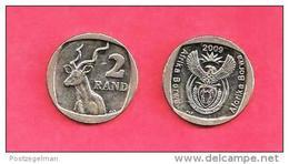 SOUTH AFRICA  2009 Nicely Used 2 Rand Coin Nr. 165A, C1351 - Sud Africa