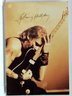 AUTOGRAPHE - SIGNATURE SUR CARTE - JOHNNY HALLYDAY - Handtekening
