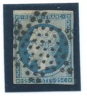 25c N° 10 BLEU NAPOLEON / EMISSION PRESIDENCE / OBLITERE ETOILE DE PARIS - Marcophilie (Timbres Détachés)
