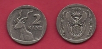 SOUTH AFRICA,  2005, Nicely Used Coin 2 Rand , Kudu  C1348 - Sud Africa