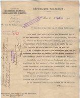 VP16.724 - MILITARIA - PARIS X NANTERRE 1921 - Lettre Du Ministère Des Pensions ..relative Au Décès Du Fils MATHYSSEN - Documenten