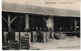Loire  SAINT ALBAN LES EAUX Le Lavage Des Bouteilles (belle Animation) - Otros Municipios