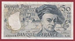 """50 Francs """"Quentin De La Tour"""" 1989 ----VG/TTB---ALPH.R.56 - 50 F 1976-1992 ''Quentin De La Tour''"""