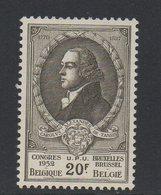 BEL 1952 Charles De Tassis 20 Fr Olive N°YT 890 ** MNH - Belgio