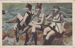 Come And Swim With Us In Atlantic City NJ Bathing Beauties 1921 - Atlantic City