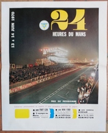24 H Du Mans 1970.Affichette Des 24 H - Desde 1950
