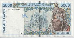 WEST AFRICAN STATES P. 713Kk 5000 F 2001 VF - Sénégal