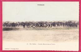 VIET-NAM--TONKIN---Grandes Manoeuvres Au Tonkin--animé--légerement Colorisée - Viêt-Nam