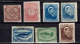 Terre-Neuve Sept Classiques Neufs (*) 1862/1887. Bonnes Valeurs. B/TB. A Saisir! - Terre-Neuve