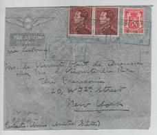 CBPND44/ TP 531(2) Poortman-423 S/L.Exprès Avion C.T.T.Namur Entrepot 28/10/1941 Censure 'e' > USA - Guerra '40-'45