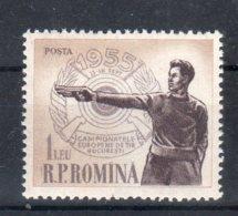 Romania 1955 -- Campionato Di TIRO --   **MNH - 1948-.... Republics