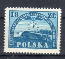 Polonia 1948 -- Orario Cracovia -- **MNH - 1944-.... Repubblica