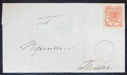 Danemark Letter N°13 4S Rouge De SKIVE Pour THISTED TTB - Lettere