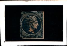 10267) 1861-62 Greece/Grecia, 20 Lepta BLU - N° 14- USATO- - Oblitérés
