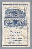 Suikerzakje.- VALKENSWAARD - BELLEVUE - J. VAN HOOF, MARKT 22. Suiker Sucre Zucchero Zucker Sugar - Suiker