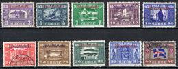 Island Dienst 44/53 Gestempelt - Kurzsatz Allthing 1930 - Dienstpost