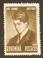 """ROUMANIE  YT 1547 OBLITÉRÉ"""" POÈTE ENDRE ADY"""" ANNÉE 1957 - 1948-.... Repúblicas"""