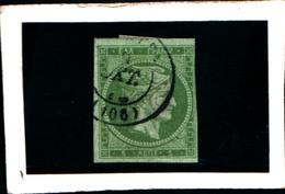 10270) 1863-68 Greece/Grecia, 5 Lepta VERDE  - N° 19- USATO- - Oblitérés